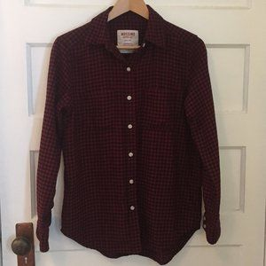 Mossimo red & black flannel plaid - size XS